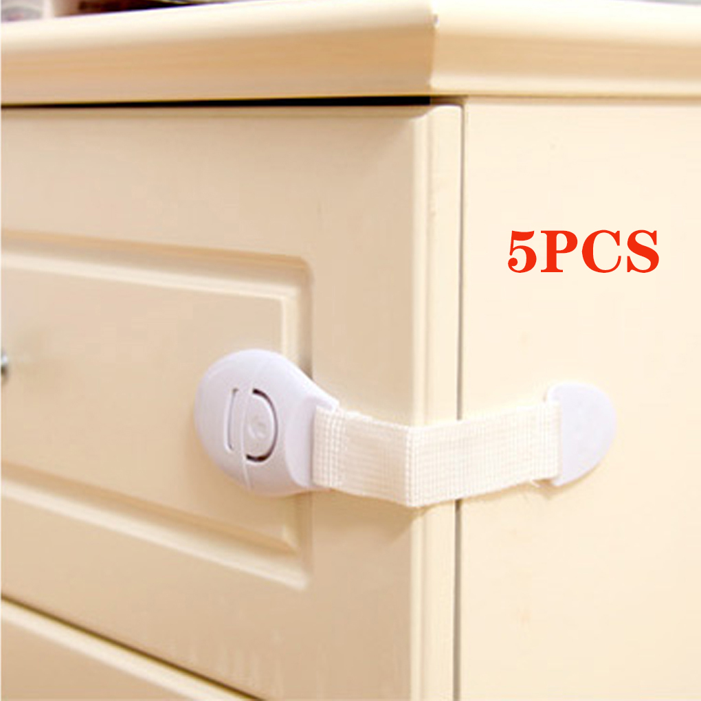 5Pcs/Set Baby Safety Care Protector Child Cabinet Locking Plastic Lock Protection Of Children Kids Locking From Door Drawers