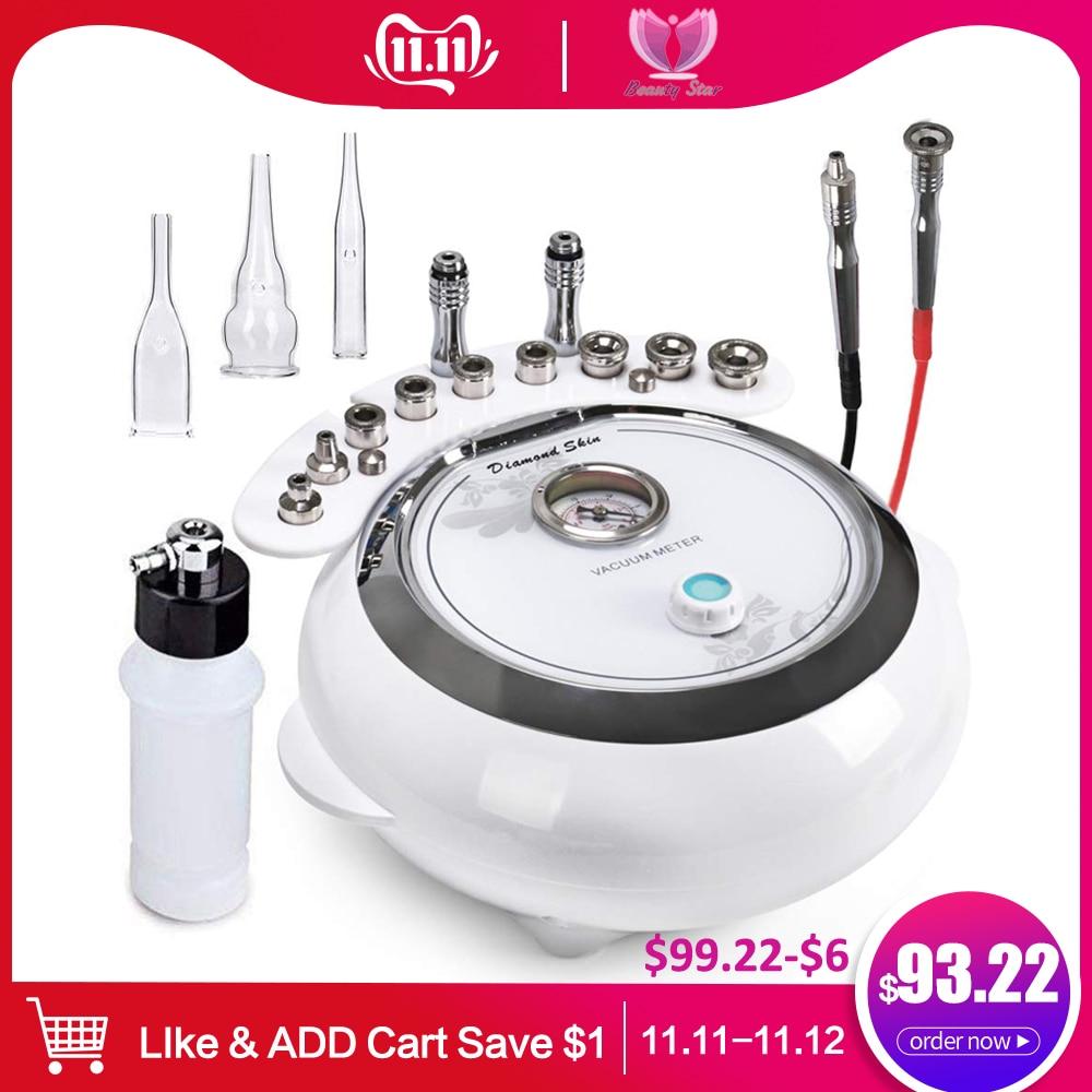Beauty Star 3in1 Diamond Microdermabrasion Machine Vacuum Spray Therapy Massage Dermabrasion Blackhead Removal Skin Care Machine