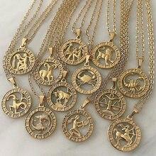 12 carta do zodíaco constelações pingentes colar para mulher virgem libra escorpião sagitário capricórnio aquarius presente de aniversário