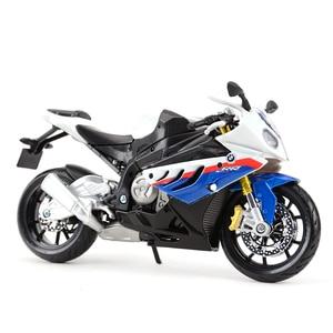 Image 5 - Maisto vehículos a presión fundido a presión 1:12, BMW S 1000 RR, juguetes modelo de motocicleta, pasatiempos coleccionables