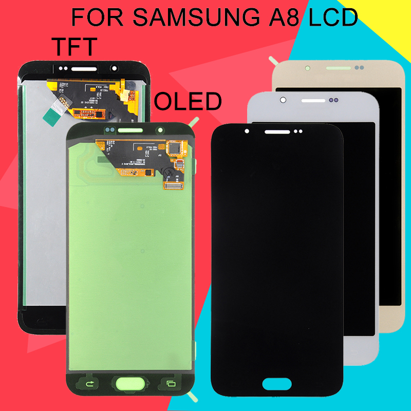 Dinamico Super Amoled <font><b>A8</b></font> 2015 Lcd For Samsung Galaxy <font><b>A8</b></font> <font><b>Display</b></font> A800 A800F Lcd With Touch Screen Digitizer Assembly With Tools image