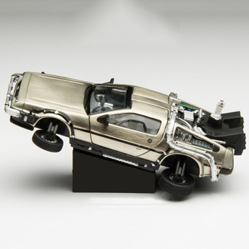1/43 Scale Metal Alloy <font><b>Car</b></font> <font><b>Diecast</b></font> <font><b>Model</b></font> Back to the Future Part 1 2 3 Time Machine DeLorean DMC-12 <font><b>Model</b></font> Toy collection display image