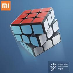 Original xiaomi mijia bluetooth5.0 cubo magnético cubo inteligente quadrado cubo mágico quebra-cabeça ciência educação funciona com mijia app