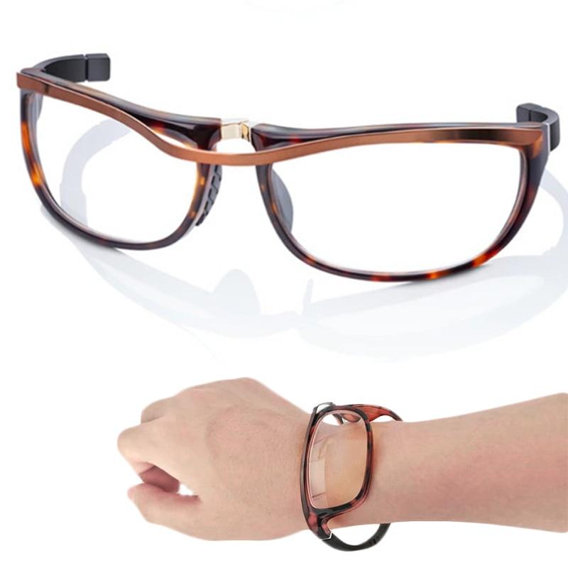 Magnetic-Reading-Glasses Magnifying Anti-Blue-Light Full-Frame Wrist-Mounted Folding