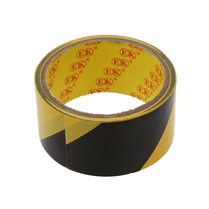 Hot 3C-32.8Ft 10 Meters Black Yellow Floor Adhesive Safety Caution Tape