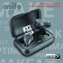 Mifo o7 fones de ouvido ipx7, mini fones de ouvido estéreo, sem fio, à prova d água, bluetooth 5.0, mãos livres, apt x, para iphone xiaomi huawe