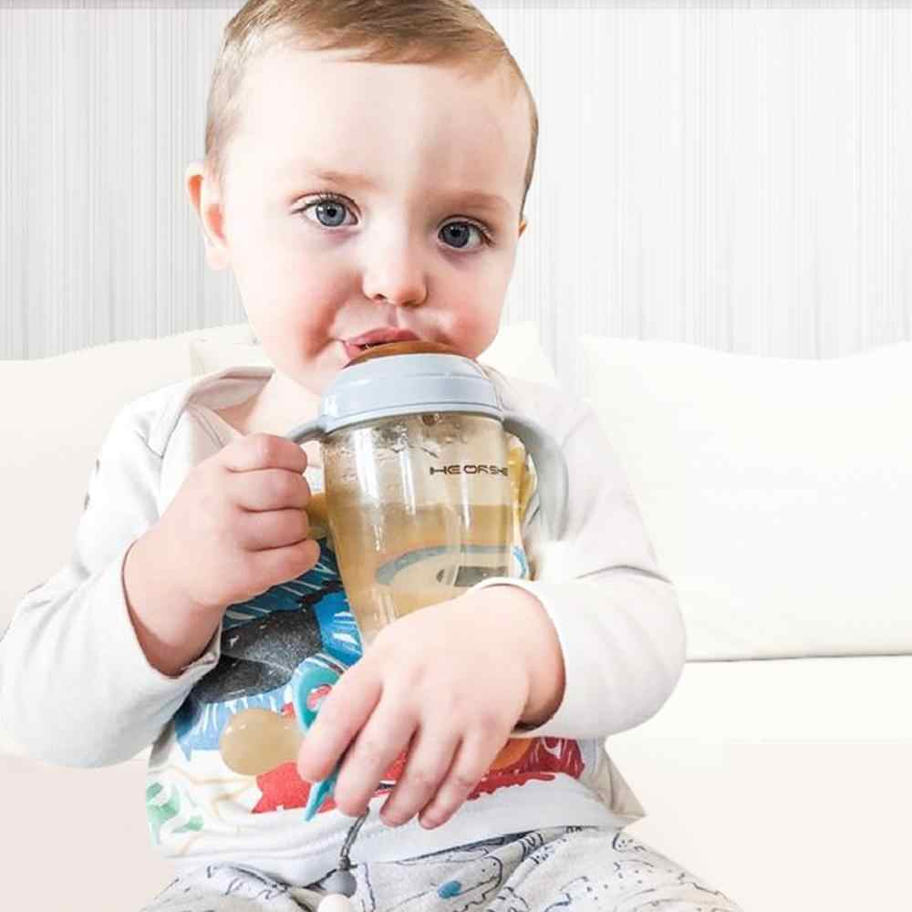 HISTOYE هلام السيليكا تغذية طفل الوليد الطفل شرب أكواب زجاجات مياه الشرب الاطفال كأس امتصاص مع القش كوبو الرضع شارب