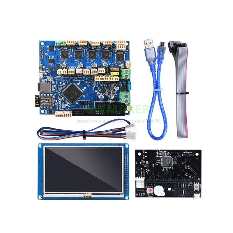 Duet 2 WIFI V1.04 carte mère clone Duet carte contrôleur WIFI avec panneau 7i panneau 5i 4.3i intégré pour imprimante 3D