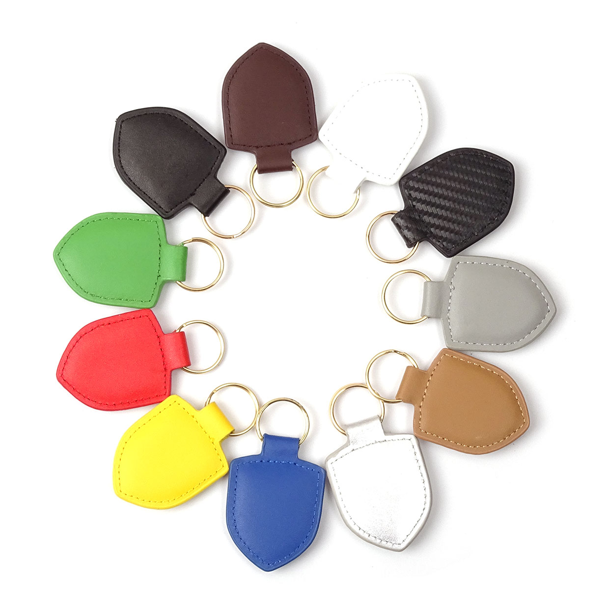 13 Colors Metal Colored Crest Leather Keyring Keychain Key Fob For Taycan Macan S Turbo Cayenne Panamera S 911 718 918 GT2