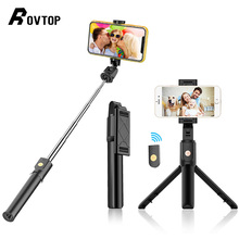 Мини штатив Rovtop для селфи с дистанционным затвором Bluetooth 4,0 для IPhone, Android, Ручной штатив, держатель для телефона, подставка с зажимом