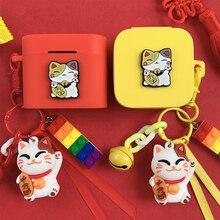 חמוד מזל חתול אוזניות כיסוי עבור Xiaomi Air2 SE TWS אוזניות מקרה עבור Mi אוויר 2 Pro Bluetooth אוזניות מגן אבזרים