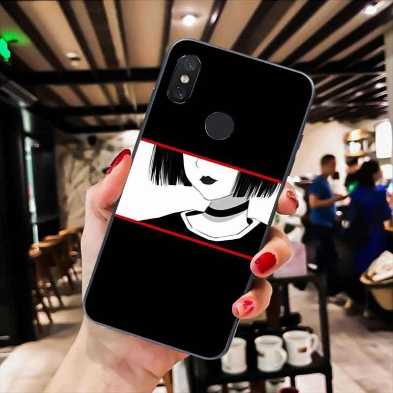 Yinuoda smutne japoński Anime estetyczne futerał na telefon dla Xiaomi mi5 6 A1 A2Lite Mi9 9SE mi8lite F1 Mix2 2S Max2 3