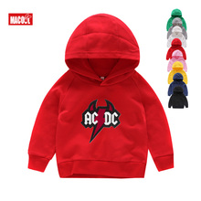2019 New Hot Kids Band Rock Hoodies Long Sleeves Red ACDC Graphic Heavy Metal Baby 3-12 Years