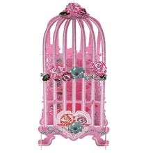 Birdcage Cupcake Cardboard Cake Stand Vintage Wedding Tea Party Display Holder pink(China)
