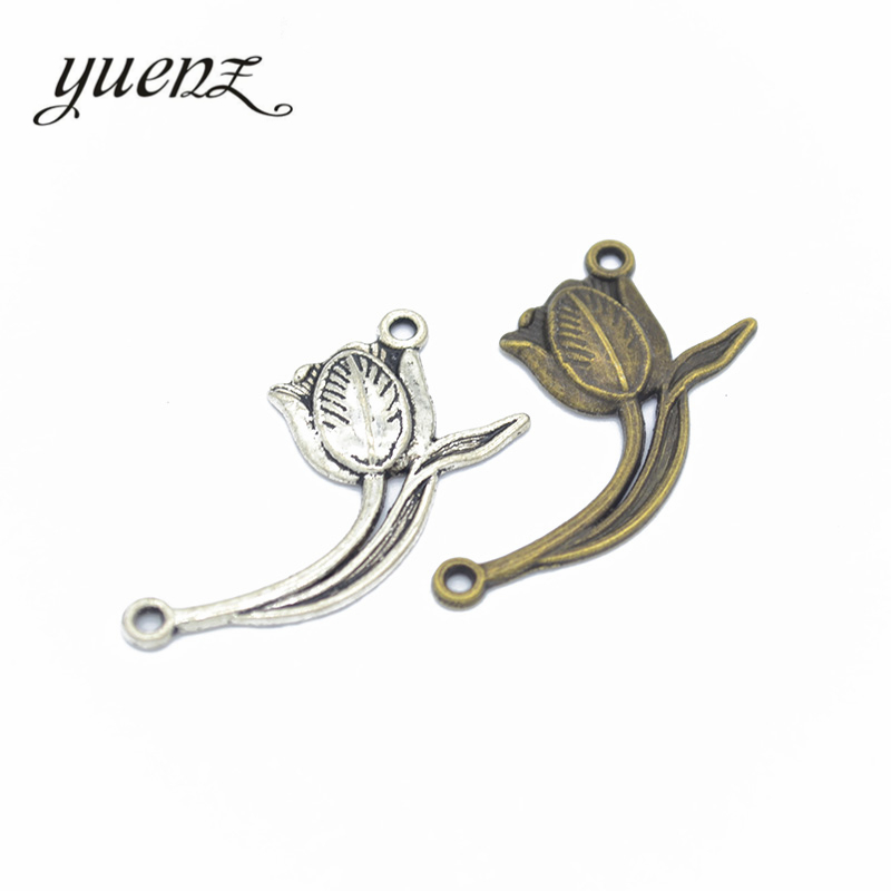 10pcs antiqued bronze flower design pendant charm G1054