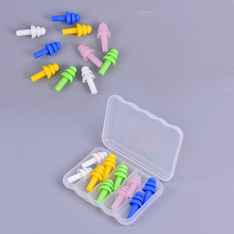 5 пар мягких противошумовых ушных штепсельных вилок, водонепроницаемые силиконовые плавательные затычки для ушей для взрослых, детей, плав...