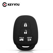 KEYYOU-funda de silicona para coche Toyota, 10 Uds., 2012, 2013, 2014, Camry, Corolla, Highlander, Vitz, RAV4, HiAce, Land Cruiser, soporte