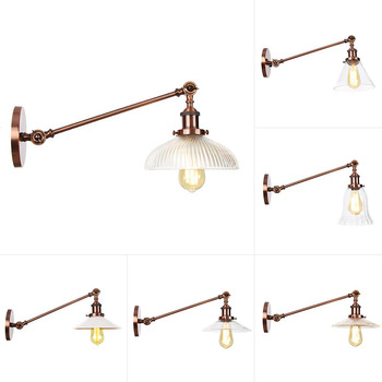 Boreal Europe style glass single section chic bakery boutique box sitting room adornment bedroom wall lamp недорого