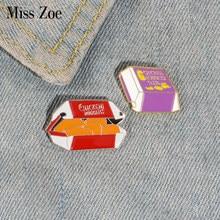 Nuggets de frango esmalte pino personalizado alimentos broches saco roupas lapela pino botão emblema dos desenhos animados jóias presente para crianças amigos