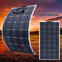 XINPUGUANG 100w Flexible Solar Panel Photovoltaic for Boat Home Car Camping Battery Charger pv solar panel 12 in