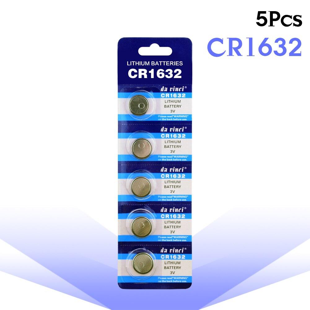 Новинка 5 шт. 3 в CR1632 Литиевые кнопочные элементы питания ECR1632 DL1632 KCR1632 LM1632 калькуляторы для игрушек батарейка для часов CR 1632