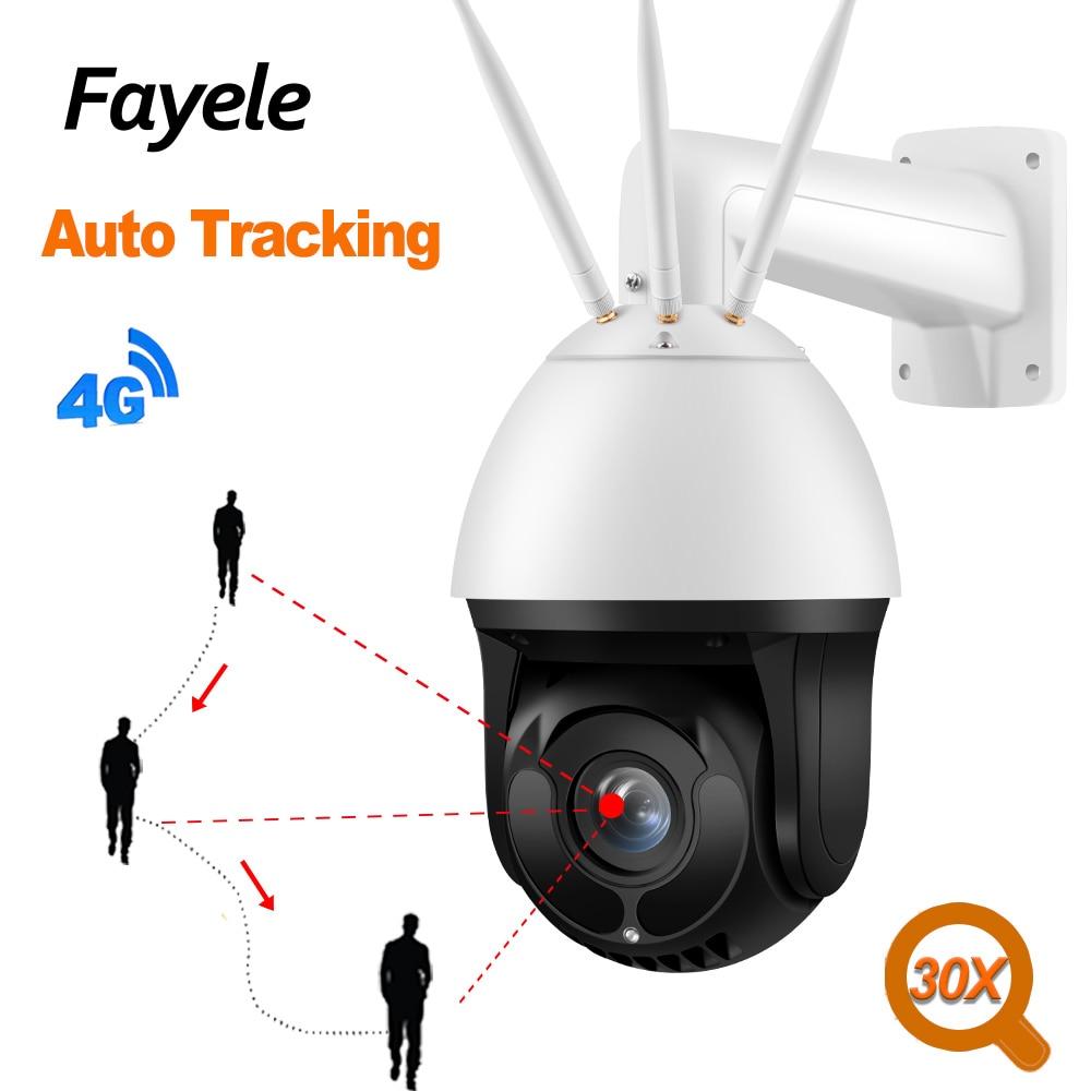 AI Intelligent Smooth Auto Tracking 4G PTZ Camera Auto Zoom In SONY307 Starlight IR 200M Speed Dome Wireless IP Camera 30X Zoom