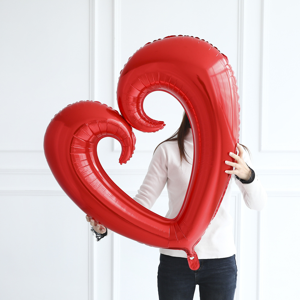 18/30/40inch Giant Hollow Heart Shape Foil Balloons For Valentines Day/Wedding Party Decorations Big Size Red Heart Globos