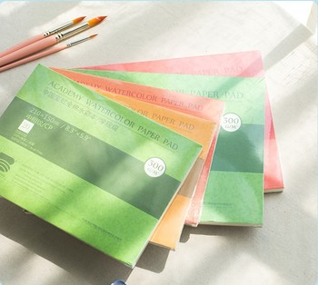 Baohong watercolor paper 300g thick and medium grain pure cotton pulp 32k16/8k college watercolor album