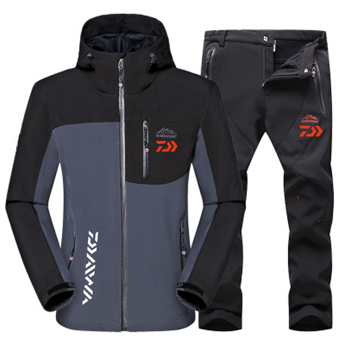 dwaterproof agua dos homens inverno quente softshell 03