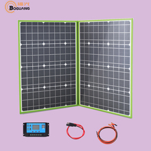 BOGUANG 100 Watts 12 Volts Monocrystalline Foldable Solar Panel with Charge Controller