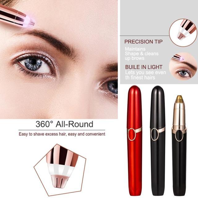 Electric Eyebrow Trimmer Scissors Eyebrow Trimmer Epilator Eyebrow Trimmer Pen Mini Painless Eye Brow Trimmer For Women 4