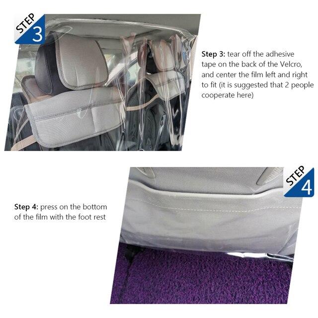 Película de protección de pantalla de partición para conductor de Taxi Uber 1.4x1.8m, operación convencional de diseño ordinario antiepidémico de coche