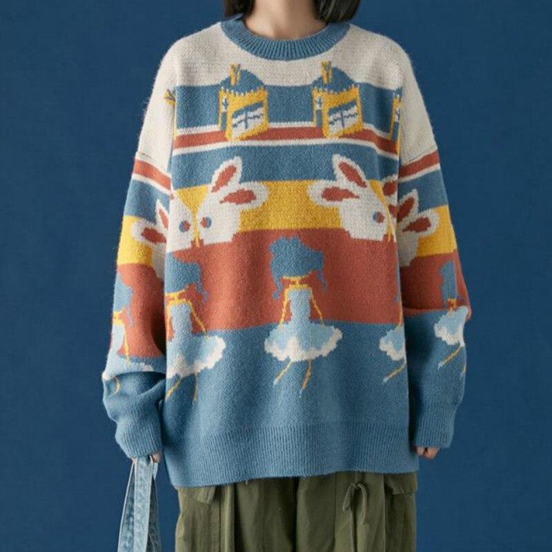 Корейский свитер deeptown зима 2020 Модный вязаный пуловер с