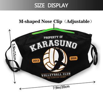 Mascarilla del Karasuno Reutilizable y con filtro Haikyuu Haikyuu Mascarillas de Anime