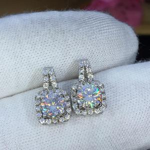 Image 3 - earrings set Moissanite Cut Total 1.00ct retro earings fashion jewelry 2020 aesthetic Moissanite earrings for women