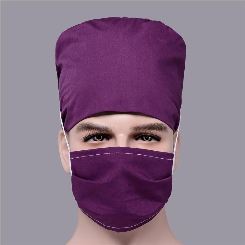 Surgical Hats Face Mask Surgery Nursing Scrubs Cotton Cap Mask For Men Gorro Cirujano Dentist Clinic Pharmacy Nurse Mascaras