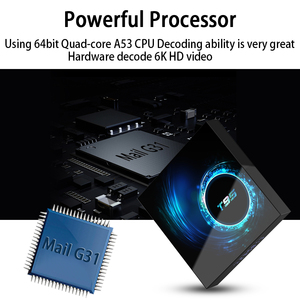 Image 3 - Caixa de tv 6k sem fio t95 h616, android 10.0, 2.4g 4gb 64gb, youtube quad core 1080p h.265 conjunto de media player caixa superior