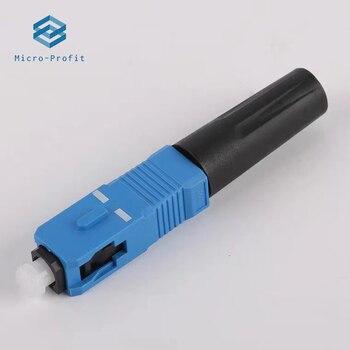 50pcs single-mode fiber optic SC UPC Fast connector 100pcs FTTH SCUPC Quick Fiber Optic adapter Straight tail - discount item  15% OFF Communication Equipment