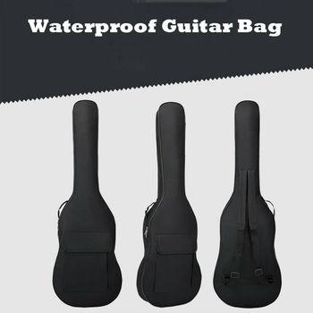 Nuevo acolchado impermeable guitarra eléctrica bolsa de Estuche de transporte guitarra acústica Gig Bag suave doble hombro correas mochila