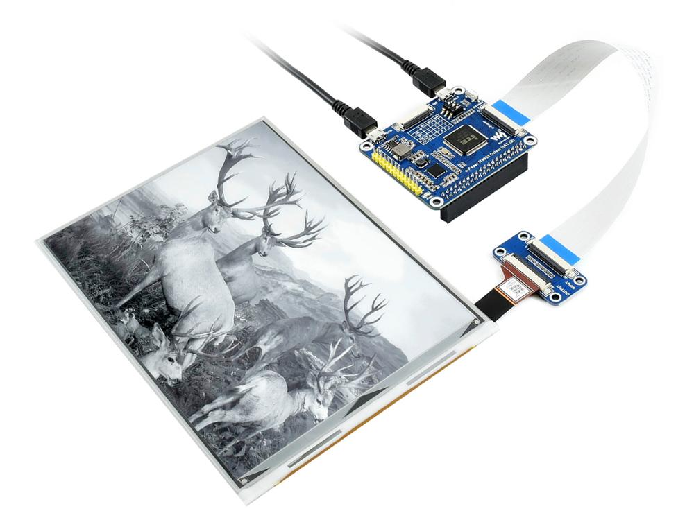 Waveshare 7.8inch E Ink display HAT for Raspberry Pi, 1872*1404 resolution,IT8951 controller, USB/SPI/I80/I2C interfaceDemo Board   -