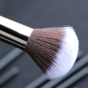 Image 2 - Sywinasสีดำชุดแปรงแต่งหน้า12PcsคุณภาพสูงSynthetic Hair Contour Eyeashadow Make Upชุดแปรง