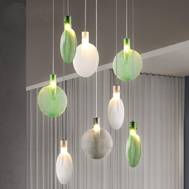 Nordic Creative Color Table Tennis Racket Designer Bar Counter Pendant Lamp Living Room Dining Room Bedroom Restaurant Cafe Lamp