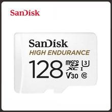SanDisk-tarjeta microSD de alta resistencia, 32GB, 64GB, 128GB, 256GB, SDHC/SDXC, velocidad de vídeo U3 V30 HD 4K para monitoreo de vídeo