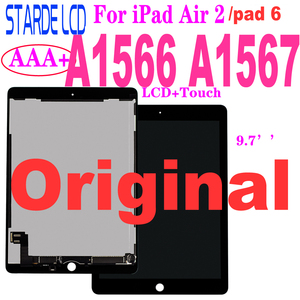 STARDE Original LCD For ipad Air 2 A1566 A1567 / ipad 6 LCD Display Touch Screen Digitizer Assembly Black / White 9.7