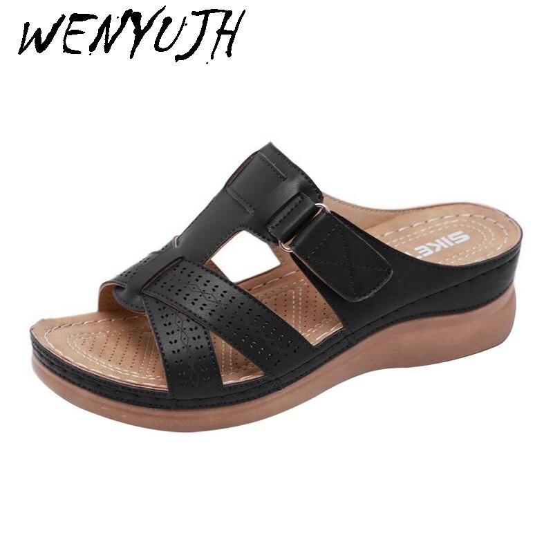 Women Summer Open Toe Comfy Sandals Super Soft Premium Orthopedic Low Heels Walking Sandals Dropship Toe Corrector Cusion