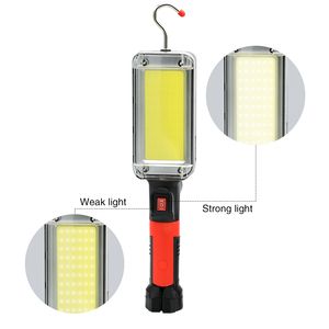 Image 5 - Led work light cob floodlight 8000LM rechargeable lamp use 2*18650 battery led portable magnetic light hook clip waterproof