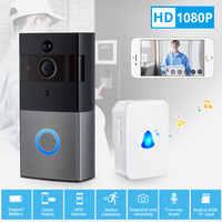 KERUI Wireless WiFi 1080P HD Low Power Home Security PIR Motion Detection Doorbell Remote Intercom Video Message Push Door bell
