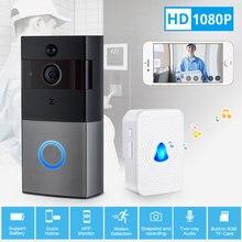 KERUI timbre de puerta inteligente inalámbrico IP08 con WiFi, monitor de seguridad para el hogar, timbre de puerta con alarma IR, 1080P