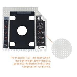 TISHRIC Универсальный алюминиевый 2-й HDD Caddy 9,5 мм/12,7 мм SATA 3,0 Optibay SSD 2,5 дюймов HDD корпус/коробка адаптер для ноутбука DVD-ROM ODD