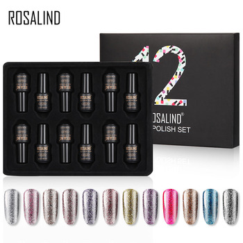ROSALIND Nail Gel Polish Set For Manicure UV Colors Gel Varnish Semi Permanent Hybrid Nail Art Gel Polish Set & Kits 12PCS/LOT 1